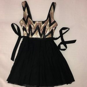 Black with Gold Sequin dress